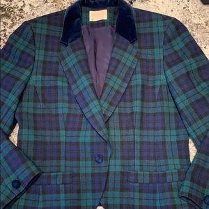 Pendleton Vtg Wool Plaid Tartan Blazer Jacket 12